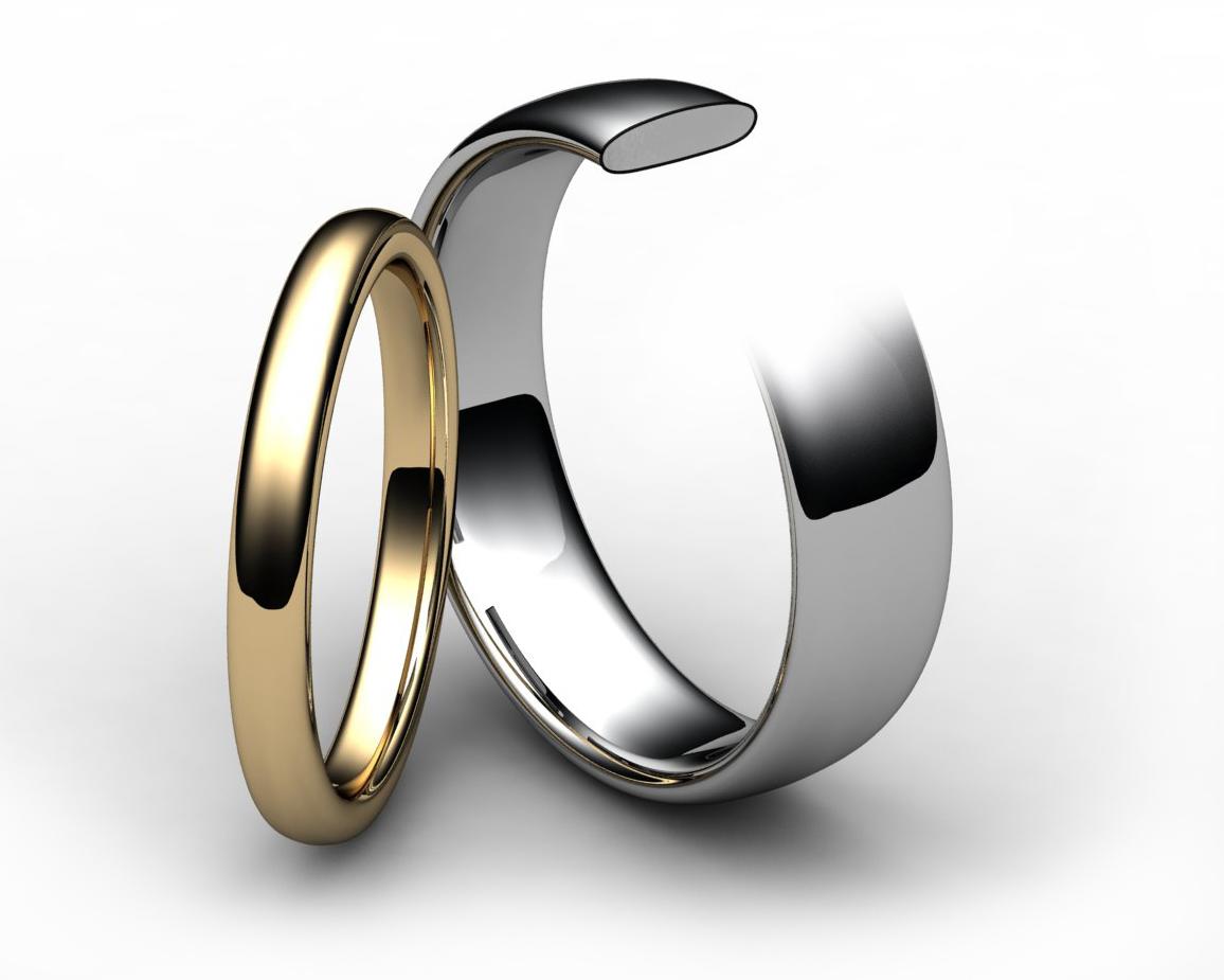 Palladium Slight Court Wedding Ring
